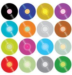 vinyl records vector image vector image