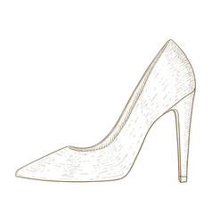 woman shoes high heel hand drawn sketch vector image