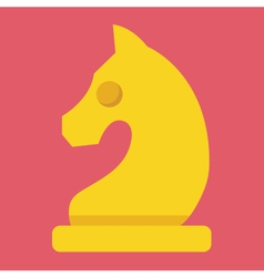 Chess Knight Icon vector image vector image