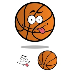 Funny cartooned basketball ball vector image vector image