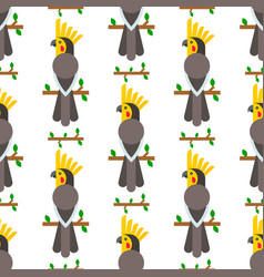 parrots birds seamless pattern animal nature vector image vector image