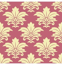 Retro yellow floral seamless pattern vector image