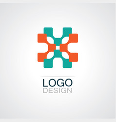 square technology logo vector image vector image