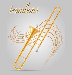 trombone wind musical instruments stock vector image