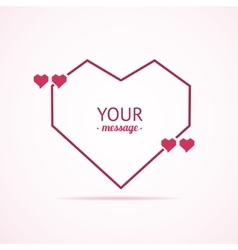 Valentine Card Quote Blank vector image vector image