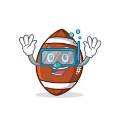 diving american football character cartoon vector image vector image