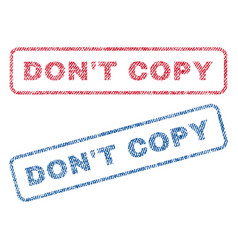 don t copy textile stamps vector image vector image