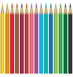Pencils collection vector image
