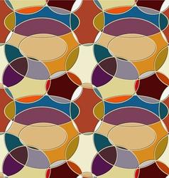 Seamless pattern of circular items vector image vector image