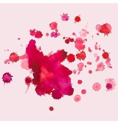 watercolour blots splash vector image vector image
