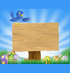 bluebird easter cartoon background vector image