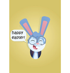 bunny head smiling vector image