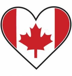 canada heart flag vector image vector image