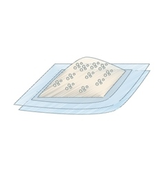 Drawing flour dish ingredient cook vector