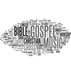 gospel word cloud concept vector image