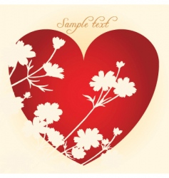 love card with vintage touch vector image vector image