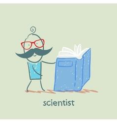 scientist reading a book vector image vector image