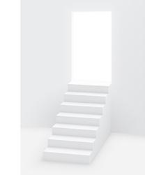 stairs door vector image
