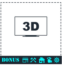 3d television icon flat vector image