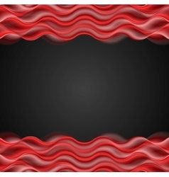 Abstract red wavy dark background vector