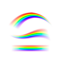 abstract set rainbow in different shapes spectrum vector image