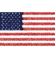 American flag of usa vector image