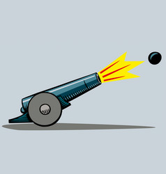 An ancient cannon vector