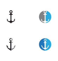 anchor logo and symbol template icons app vector image
