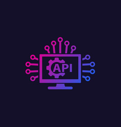 Api and software integration icon vector