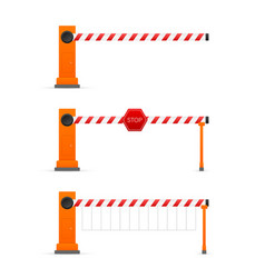 Automatic barrier to adjust movement cars vector
