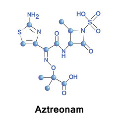 Aztreonam monobactam antibiotic vector