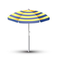 beach umbrella the symbol vector image