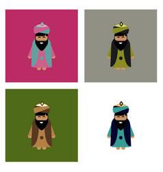 Bearded king wearing sunglasses vector
