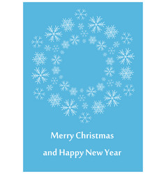 blue greeting card for christmas - leaflet vector image