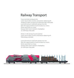 brochure railway platform with timber vector image