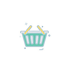 bsket shopping online cart icon vector image