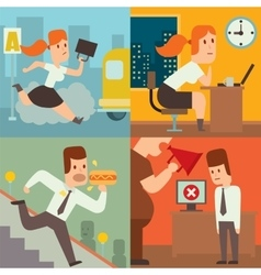 Business work time lag delay vector