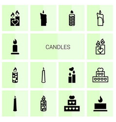 candles icons vector image