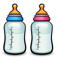Cartoon baby bottle isolated vector