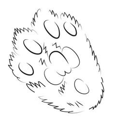 Cartoon image of cat paw icon logo concept vector