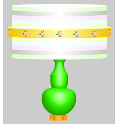 Classic desk lamp vector