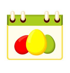 Colorful cartoon easter calendar vector