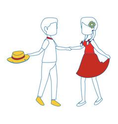 Couple dancing icon vector