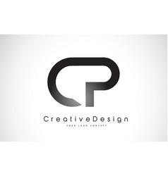 Cp c p letter logo design creative icon modern vector