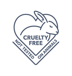 Cruelty free stamp - not tested on animals emblem vector