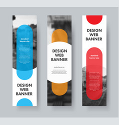 design of web banners with color design elements vector image