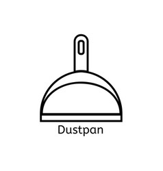 dustpan simple line icon cleaning thin linear vector image