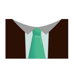 elegant tie icon vector image