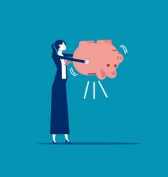empty piggy bank financial and saving concept vector image