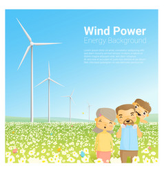 Energy concept background with wind turbine 8 vector